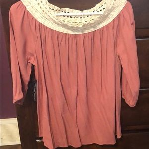 NWT Signature Studios Dress Top in Coral. Size XL